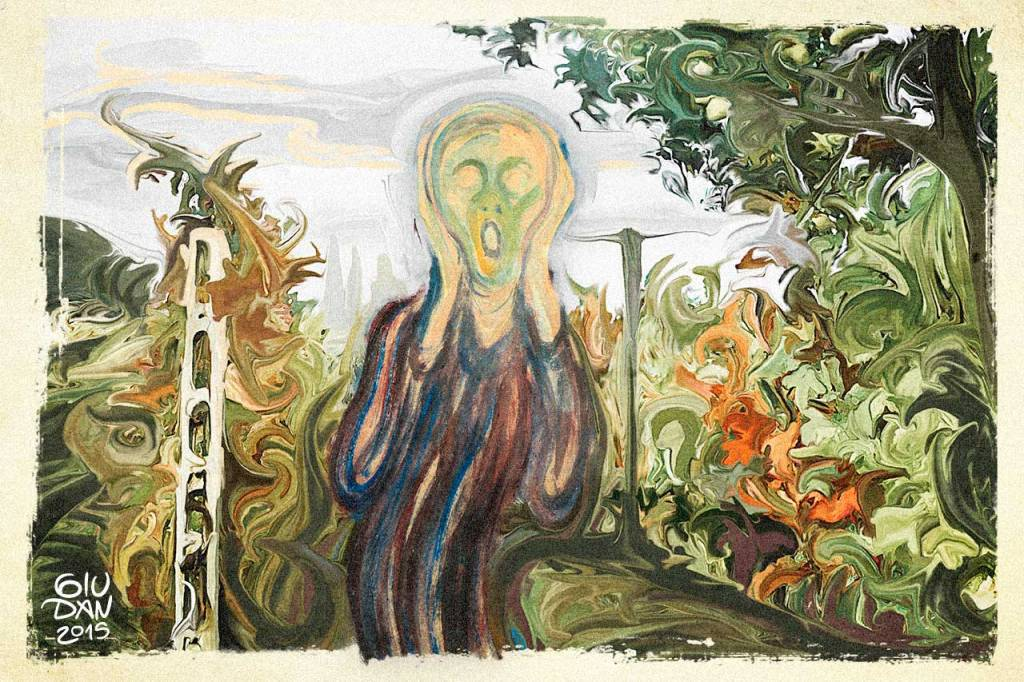 urlo di munch in vigna